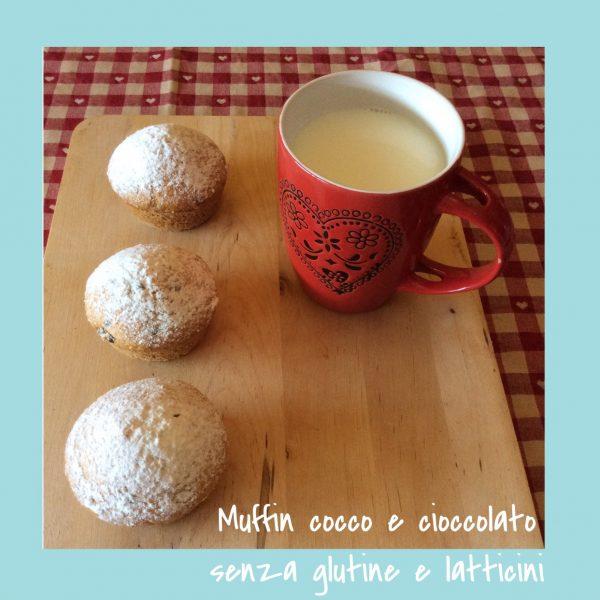 Muffin cocco e cioccolato senza glutine e senza lattici con Moulinex Cuisine Companion